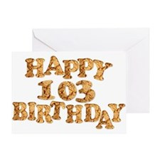 103rd birthday card for a cookie lover Greeting Ca