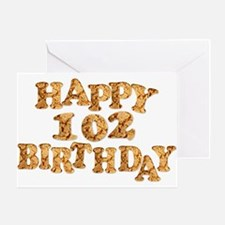 102nd birthday card for a cookie lover Greeting Ca