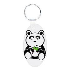 Cartoon Panda with Leaves Keychains
