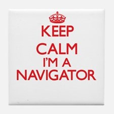 Keep calm I'm a Navigator Tile Coaster