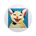One Cat Laughing Ornament (Round)