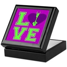 Purple and Green Cheerleader Keepsake Box