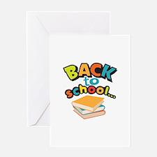 SCHOOL BOOKS Greeting Cards