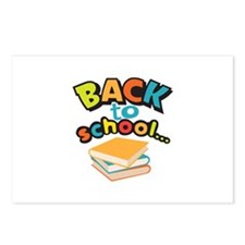 SCHOOL BOOKS Postcards (Package of 8)