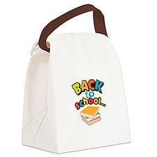 SCHOOL BOOKS Canvas Lunch Bag