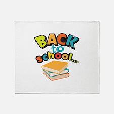SCHOOL BOOKS Throw Blanket