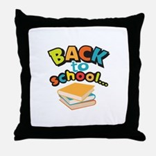 SCHOOL BOOKS Throw Pillow
