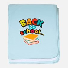 SCHOOL BOOKS baby blanket