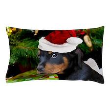 Christmas Rottweiler Puppy Pillow Case