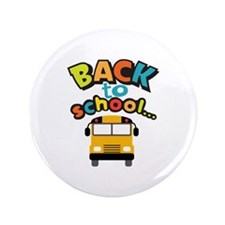 """BACK TO SCHOOL BUS 3.5"""" Button (100 pack)"""