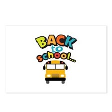 BACK TO SCHOOL BUS Postcards (Package of 8)