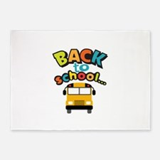 BACK TO SCHOOL BUS 5'x7'Area Rug