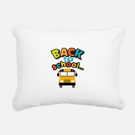 BACK TO SCHOOL BUS Rectangular Canvas Pillow