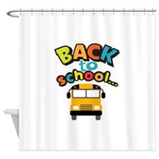 BACK TO SCHOOL BUS Shower Curtain