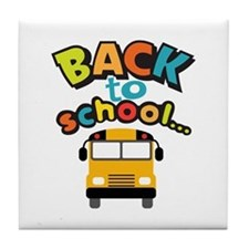 BACK TO SCHOOL BUS Tile Coaster