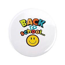 """SCHOOL SMILEY FACE 3.5"""" Button"""