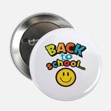 "SCHOOL SMILEY FACE 2.25"" Button (10 pack)"