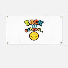 SCHOOL SMILEY FACE Banner