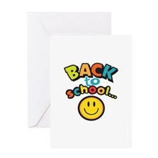 SCHOOL SMILEY FACE Greeting Cards