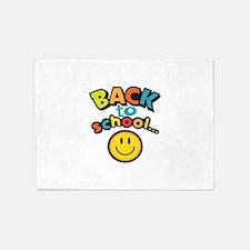 SCHOOL SMILEY FACE 5'x7'Area Rug
