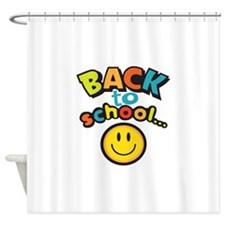 SCHOOL SMILEY FACE Shower Curtain