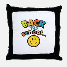 SCHOOL SMILEY FACE Throw Pillow