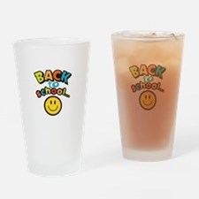 SCHOOL SMILEY FACE Drinking Glass