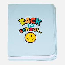 SCHOOL SMILEY FACE baby blanket