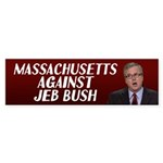 Massachusetts Against Jeb Bush Bumper Sticker