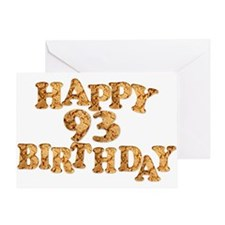 93rd birthday card for a cookie lover Greeting Car