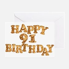 91st birthday card for a cookie lover Greeting Car