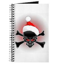 Christmas Santa Black Skull Journal