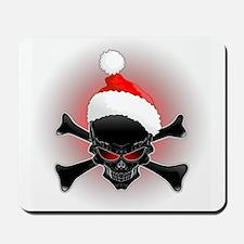 Christmas Santa Black Skull Mousepad