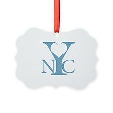 Love New York blue Ornament