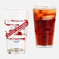 New Girl Zombie Drinking Glass
