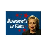 Massachusetts For Clinton Magnet Magnets