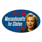 Massachusetts For Clinton Bumper Sticker
