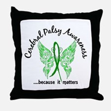 Cerebral Palsy Butterfly 6.1 Throw Pillow