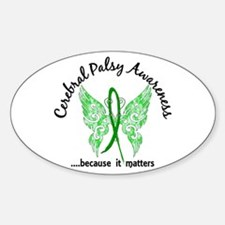Cerebral Palsy Butterfly 6.1 Bumper Stickers