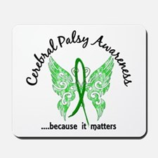 Cerebral Palsy Butterfly 6.1 Mousepad
