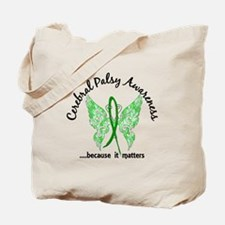 Cerebral Palsy Butterfly 6.1 Tote Bag