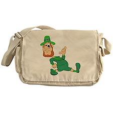 Leprechaun Cartoon Messenger Bag