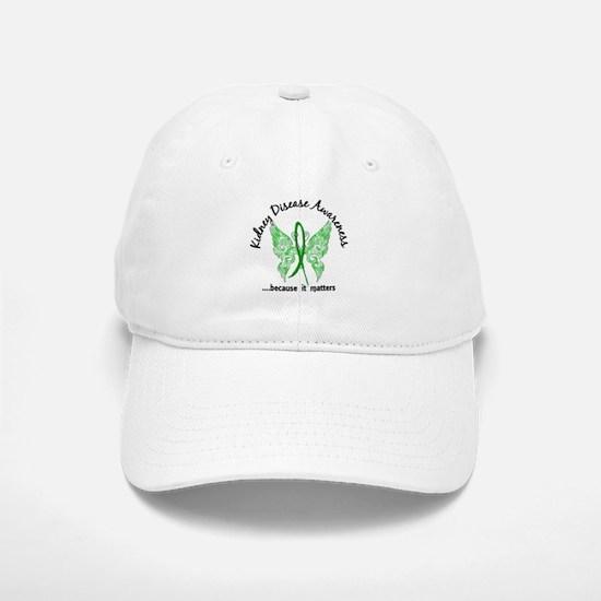 Kidney Disease Butterfly 6.1 Baseball Baseball Cap