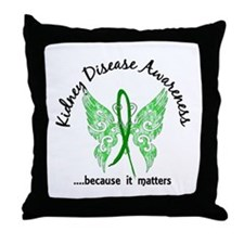 Kidney Disease Butterfly 6.1 Throw Pillow