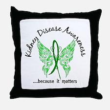 Kidney Disease Butterfly 6.1 Throw Pillow