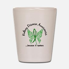 Kidney Disease Butterfly 6.1 Shot Glass