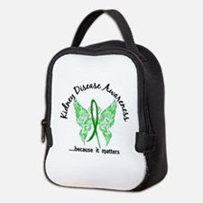Kidney Disease Butterfly 6.1 Neoprene Lunch Bag