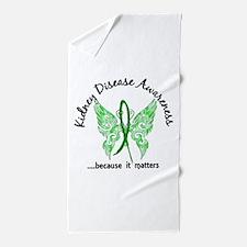 Kidney Disease Butterfly 6.1 Beach Towel