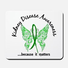 Kidney Disease Butterfly 6.1 Mousepad