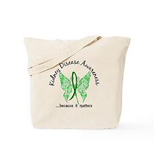 Kidney Disease Butterfly 6.1 Tote Bag